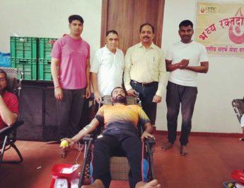 Blood Donation YogVidya Dham Yoga Day 21 June Nashik