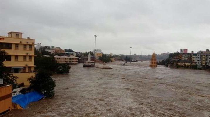 Godavari first time flooded 2018 Nashik Rains gangapur dam position