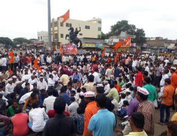 Maratha Andolan Satana Rasta Roko Thiyya Agitation Dhangar Muslim Support