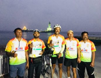 Nashik Cyclist Dr Mahendra Mahajan K2K Kashmir Kanyakumari Guinness World Record K2K Challenge Guinness World Records