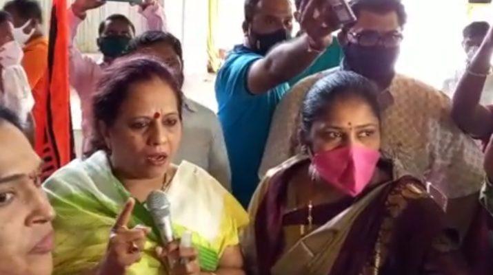 Maratha Reservation Nashik Pharande गोंधळ : भाषणावर आक्षेप घेत आ. फरांदेंचे भाषण पडले बंद MLA Pharande Corona Positive